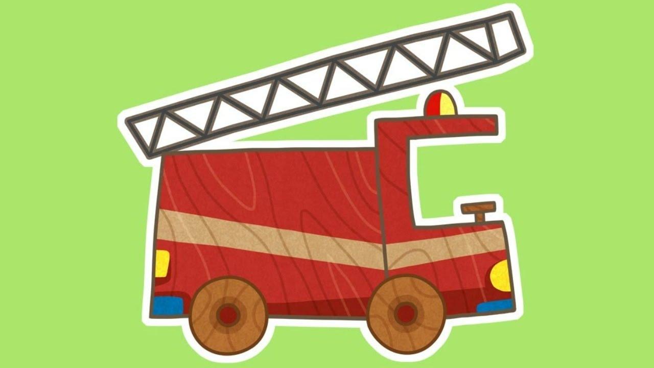 1280x720 Car Toons New Cartoon! Fire Truck.