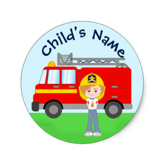 324x324 Cartoon Fire Truck Gifts On Zazzle