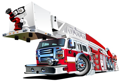 499x336 Cartoon Fire Truck Vector Material 03 Free Vectors Ui Download