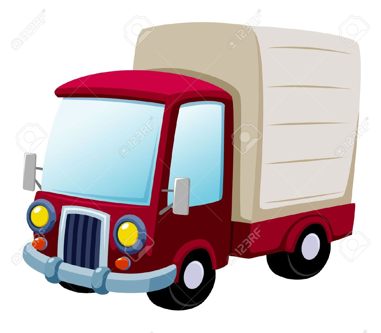 1300x1137 Cartoon Truck Clipart