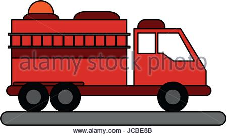 450x270 Firefighter Ladder Cartoon Icon Stock Vector Art Amp Illustration