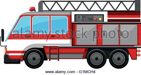 450x239 Vector Of Ladder Fire Truck Stock Vector Art Amp Illustration