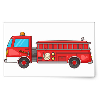 324x324 Cartoon Fire Engine Stickers Zazzle