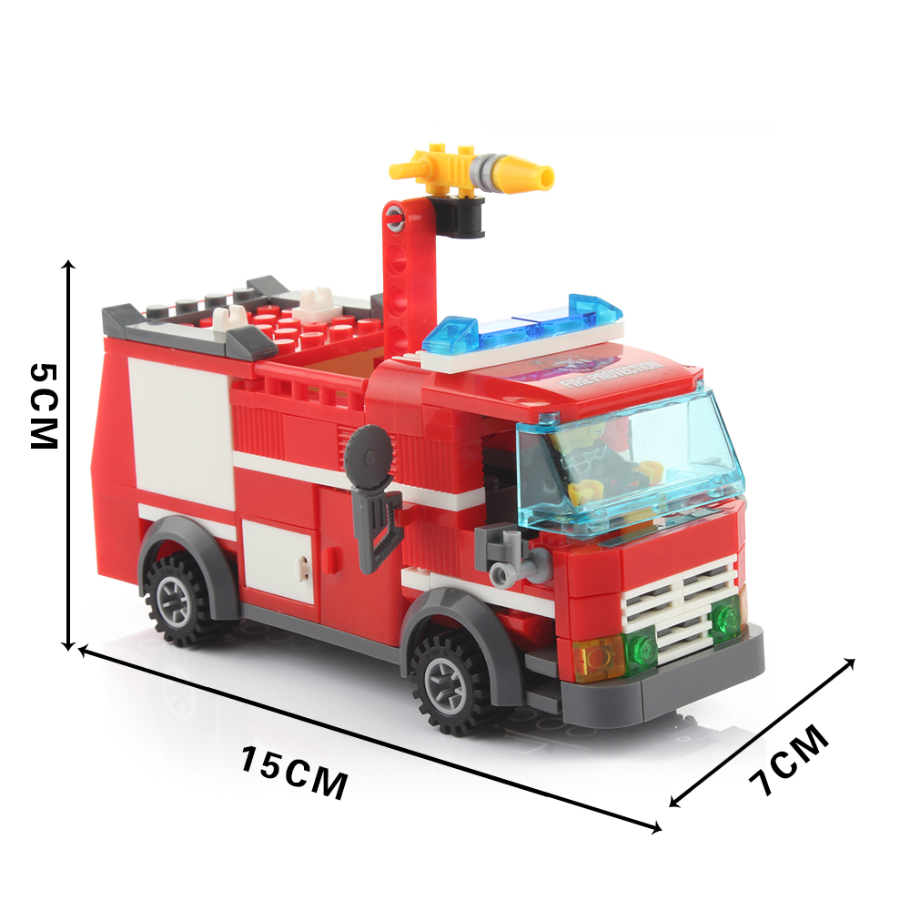 1000x1000 Cartoon Fire Truck Building Blocks Baby Toys Kids Diy Learning