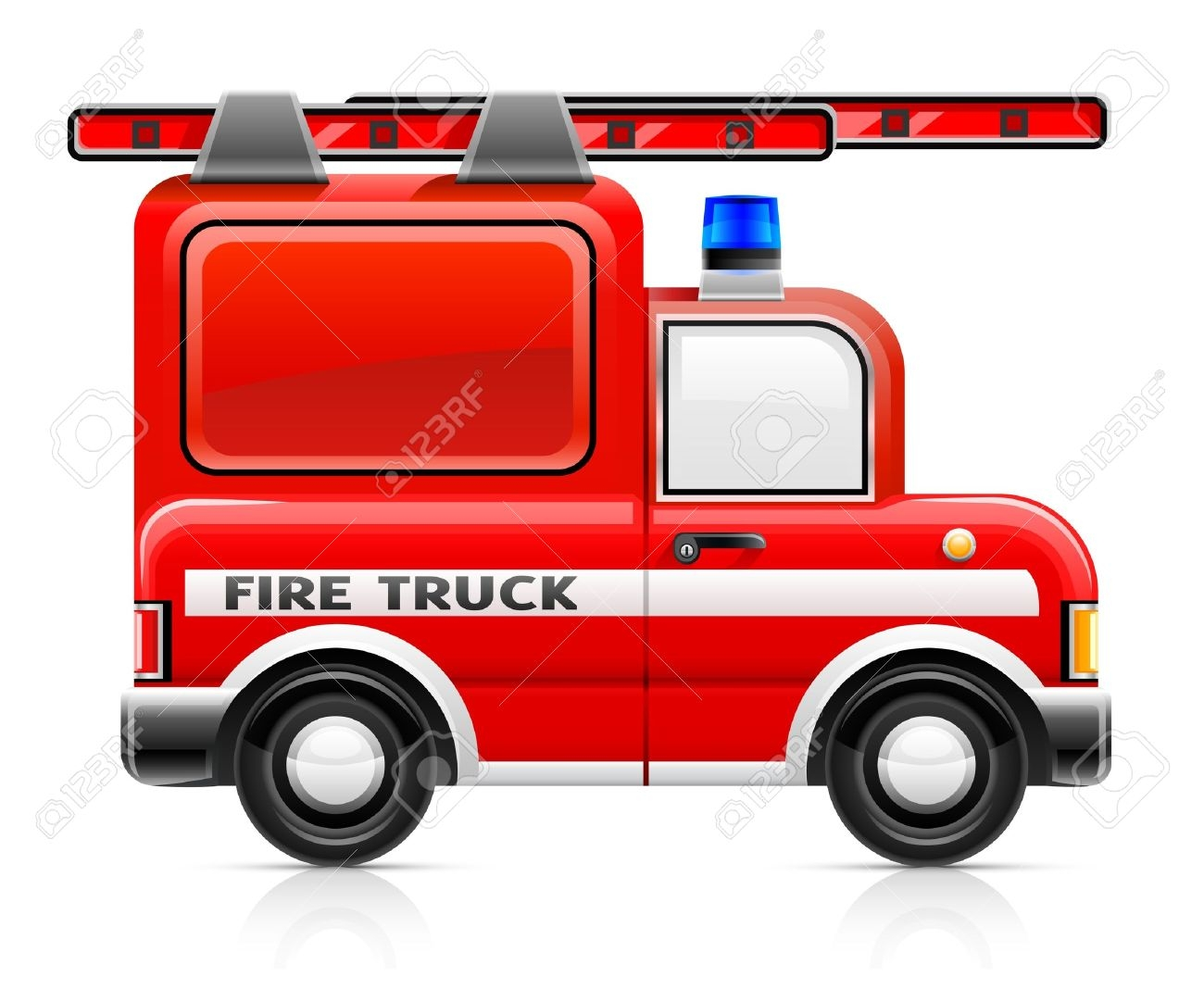 1300x1068 Fire Truck Vector Clipart