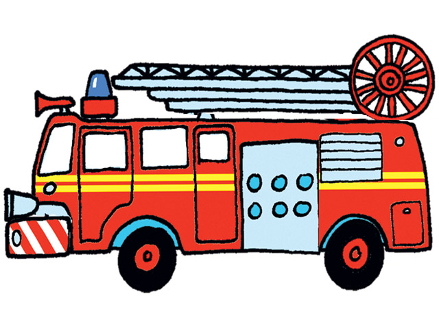 640x480 Fire Truck Clipart Cartoon