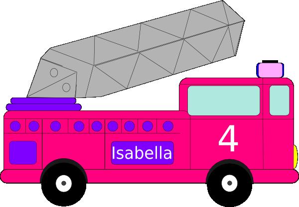 600x416 Isabella Birthday Firetruck Clip Art