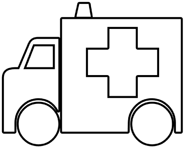 600x481 Fire Truck Outline Clipart