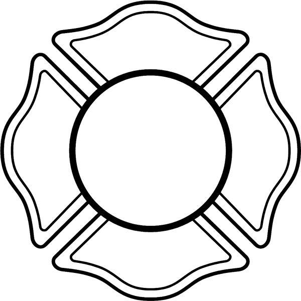 600x600 Fire Truck Clipart Badge