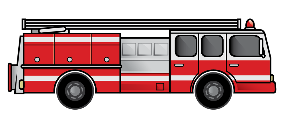 Fire Truck Clipart Black And White | Free download on ...
