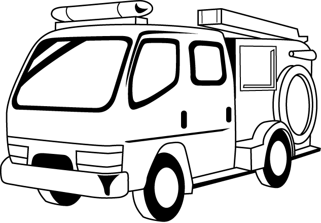633x439 Firetruck Clipart Black And White Thewealthbuilding