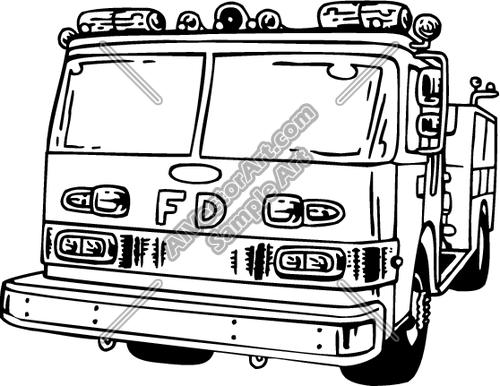 500x386 Firetruck2 Clipart And Vectorart Vehicles