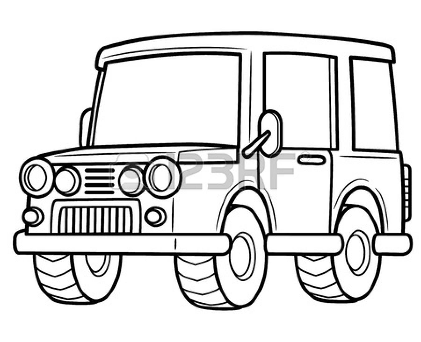 1350x1098 Jeep Clip Art Black And White Clipart