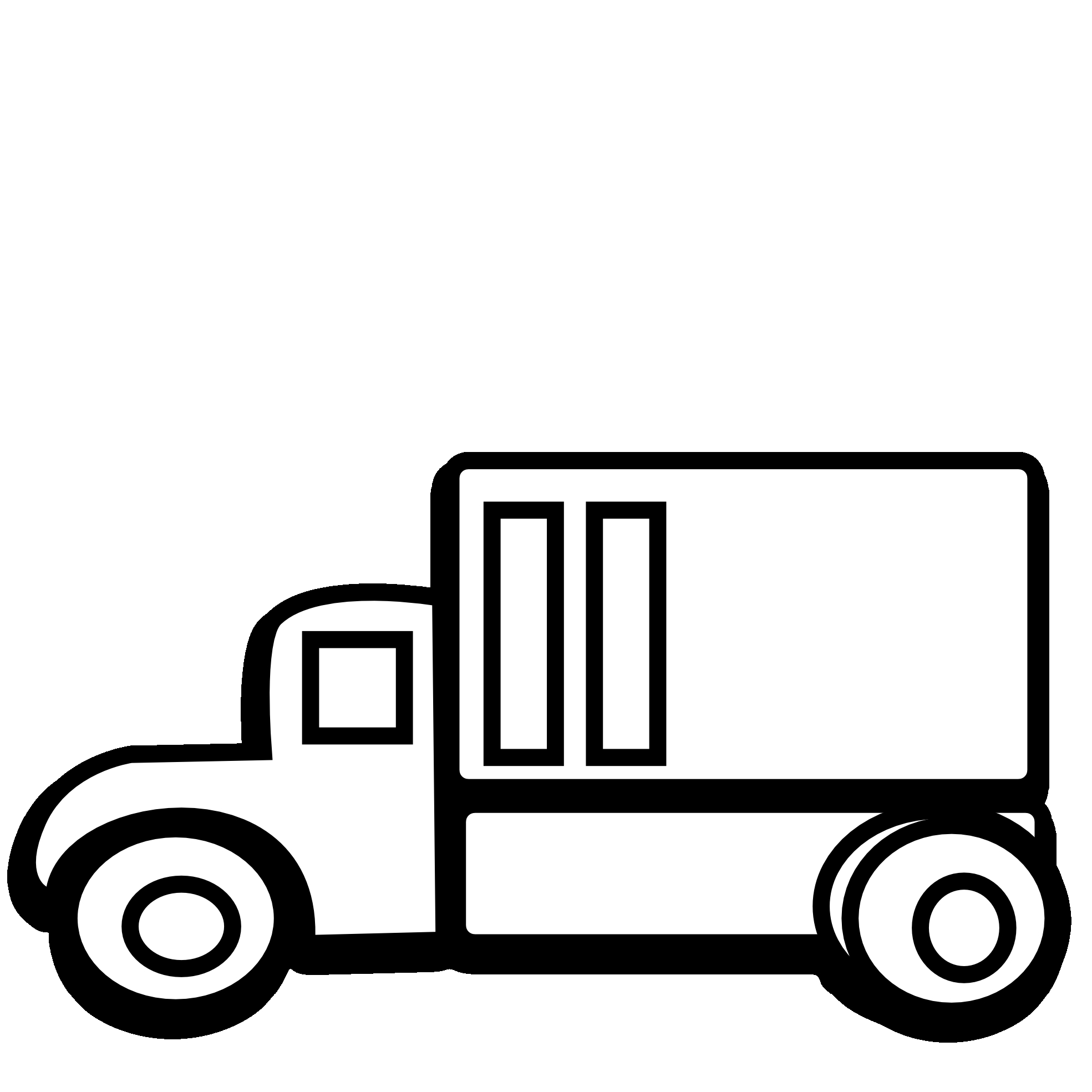 1969x1969 And Truck Clipart Black And White