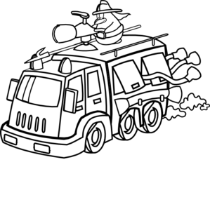 299x288 Fire Truck Clipart Black And White Clipart Panda