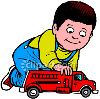 350x347 Toddler Boy Playing With Firetruck