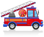 150x128 Big Fire Engine Royalty Free Vector Clip Art Image