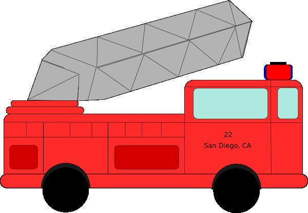 600x416 Fire Truck 22 Clip Art