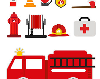 340x270 Fire Truck Canvas Etsy