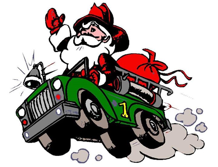 720x552 Santa Coming To Town On A Fire Truck Archives