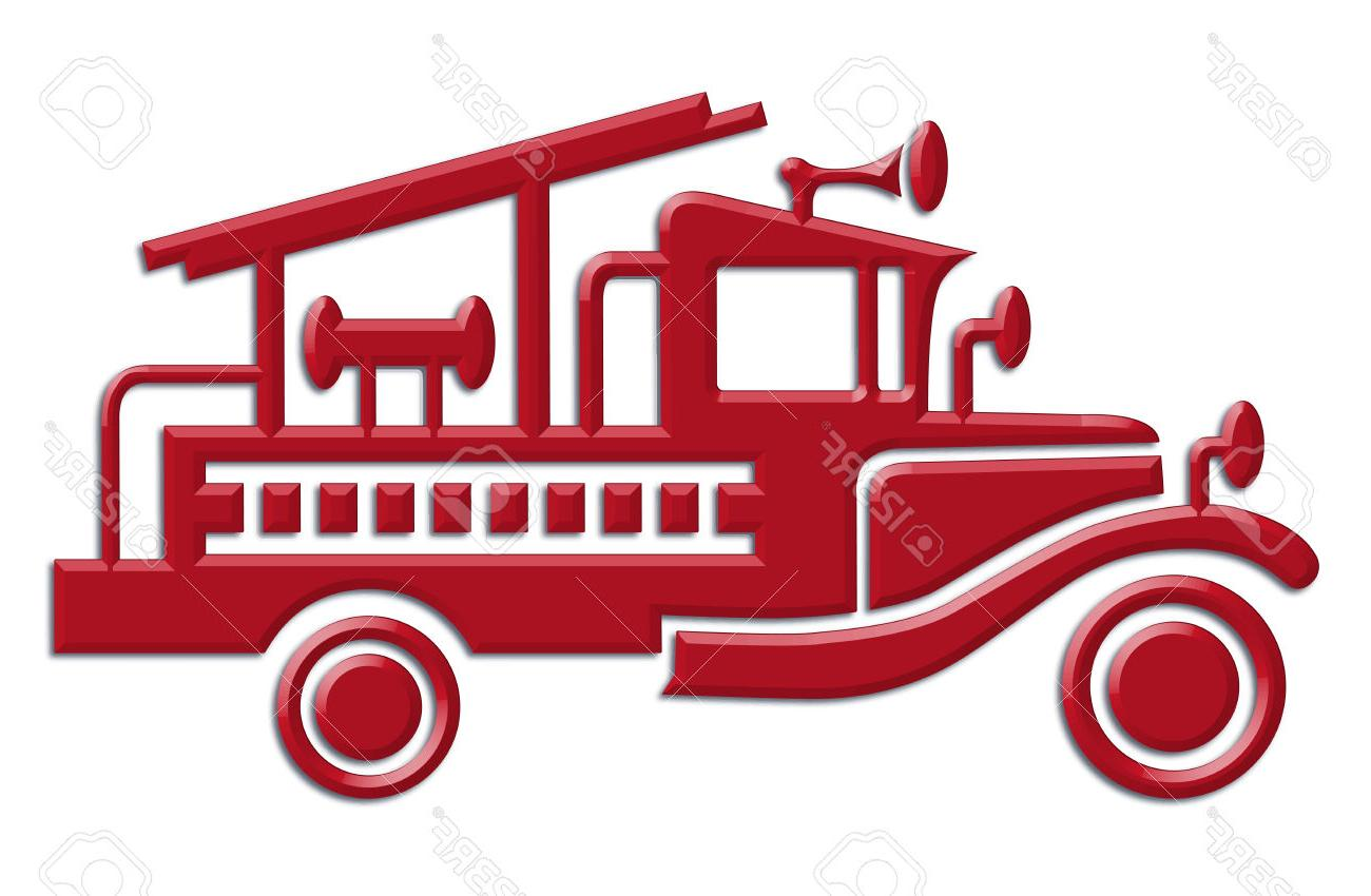 1300x850 Unique Fire Truck Car Icon Stock Vector Silhouette Images