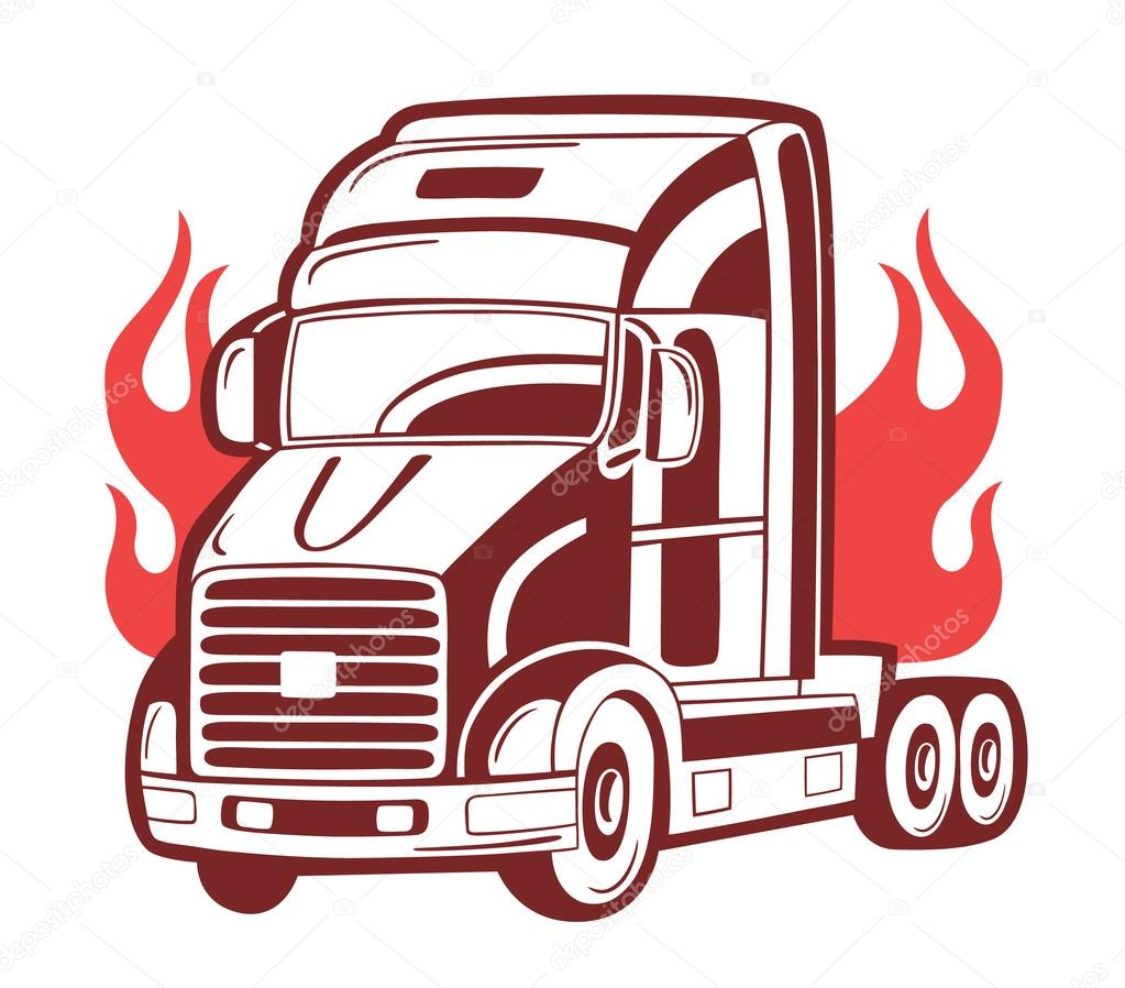 1023x898 Logo With Fire Truck. Stock Vector Nesalomeya
