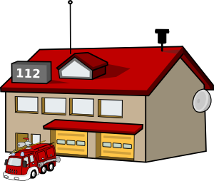 300x254 Fire Truck Clipart Fire Station Building
