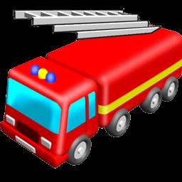 256x256 Fire Truck Clip Art