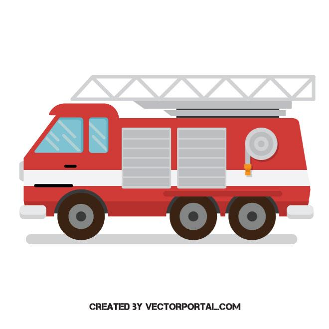 660x660 Fire Truck Vector Graphics Vehicles Free Vectors