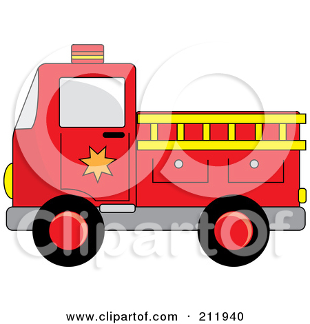 450x470 Red Fire Truck Clipart