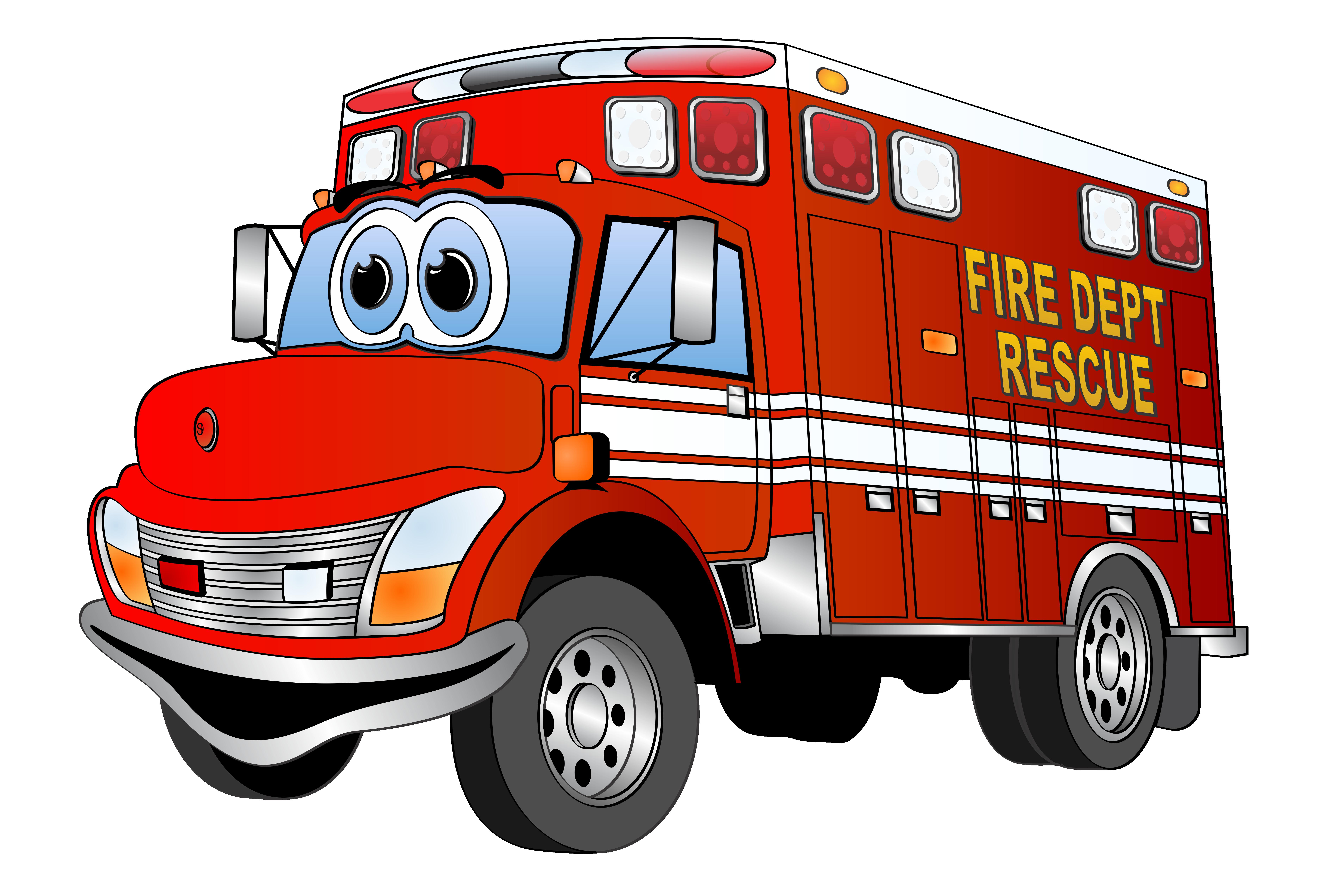 7628x5085 Clipart Fire Truck