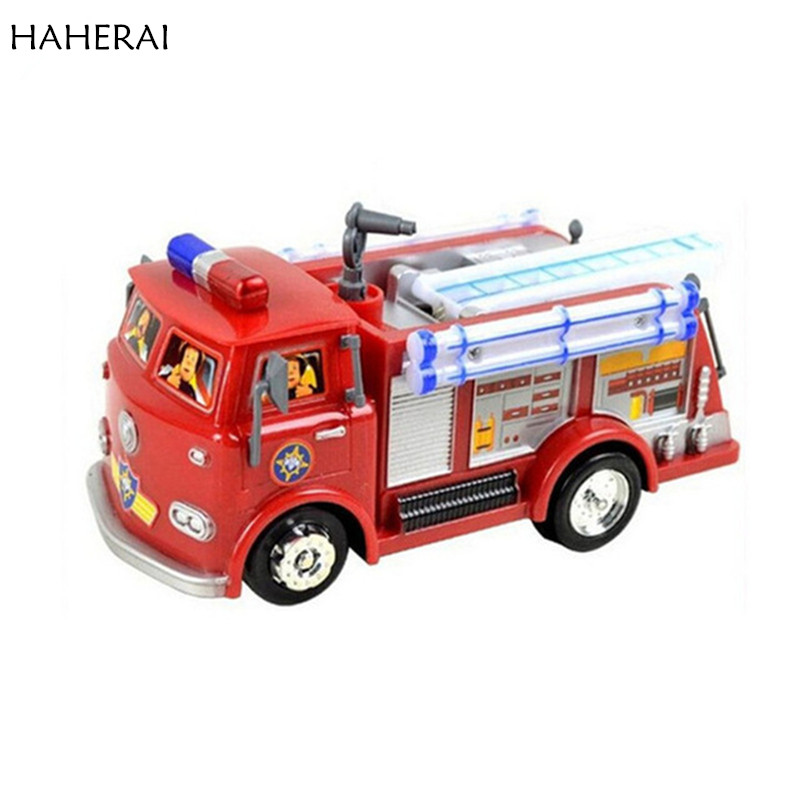 800x800 Fireman Sam Toy Truck Fire Truck Car With Music led Boy Toy