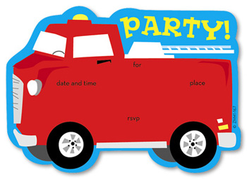 350x253 Fire Truck Birthday Party Theme Invitations Amp Party Invitations