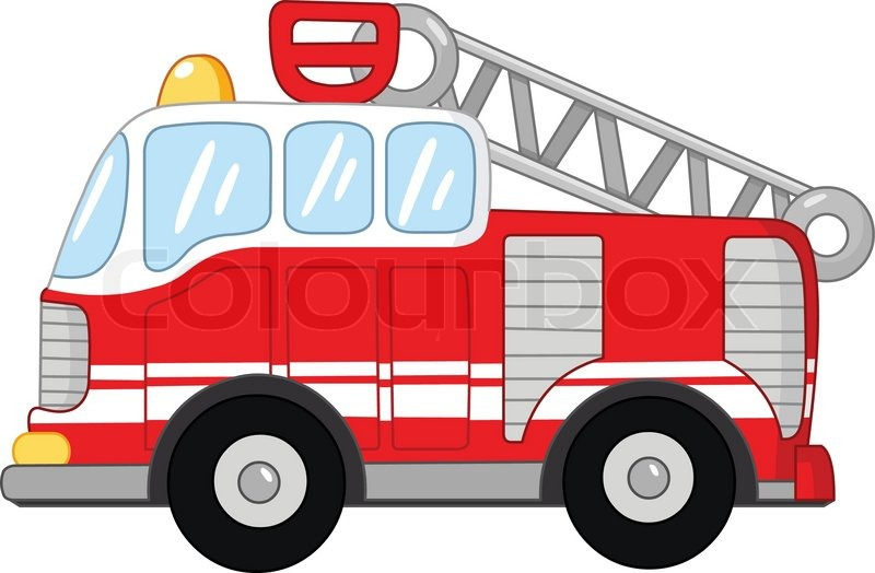 800x524 Fire Truck Vector Illustration Stock Vector Colourbox