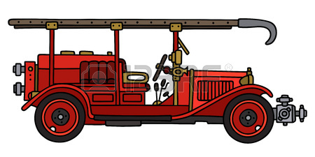 450x225 Hand Drawing Of A Firetruck Royalty Free Cliparts, Vectors,