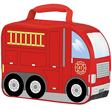 463x463 Thermos Novelty Soft Lunch Kit, Firetruck Reusable