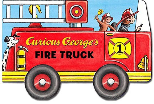 500x338 Curious George's Fire Truck (Mini Movers Shaped Board Books)