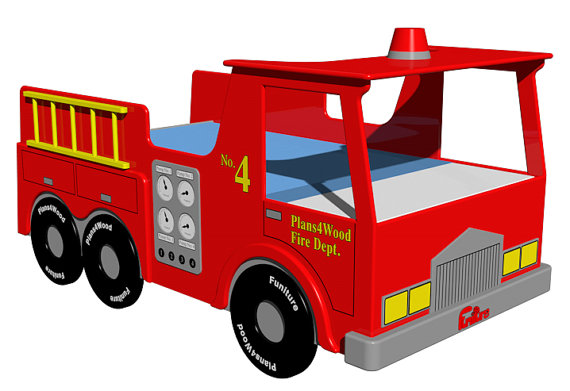 570x391 Digital Download Fire Truck Bed Woodworking Plan By Plans4wood