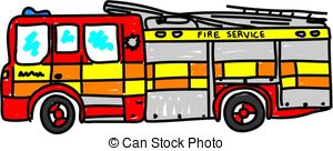 300x136 Fire Truck Clipart Motorcycle