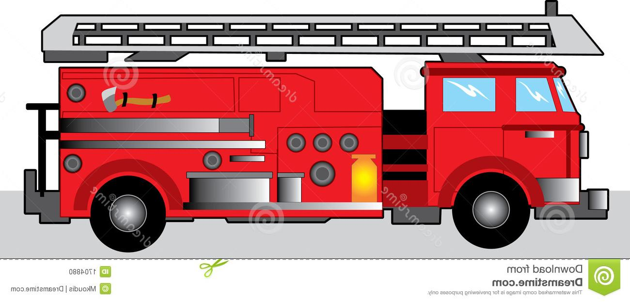 1300x623 Fire Truck Clipart Red