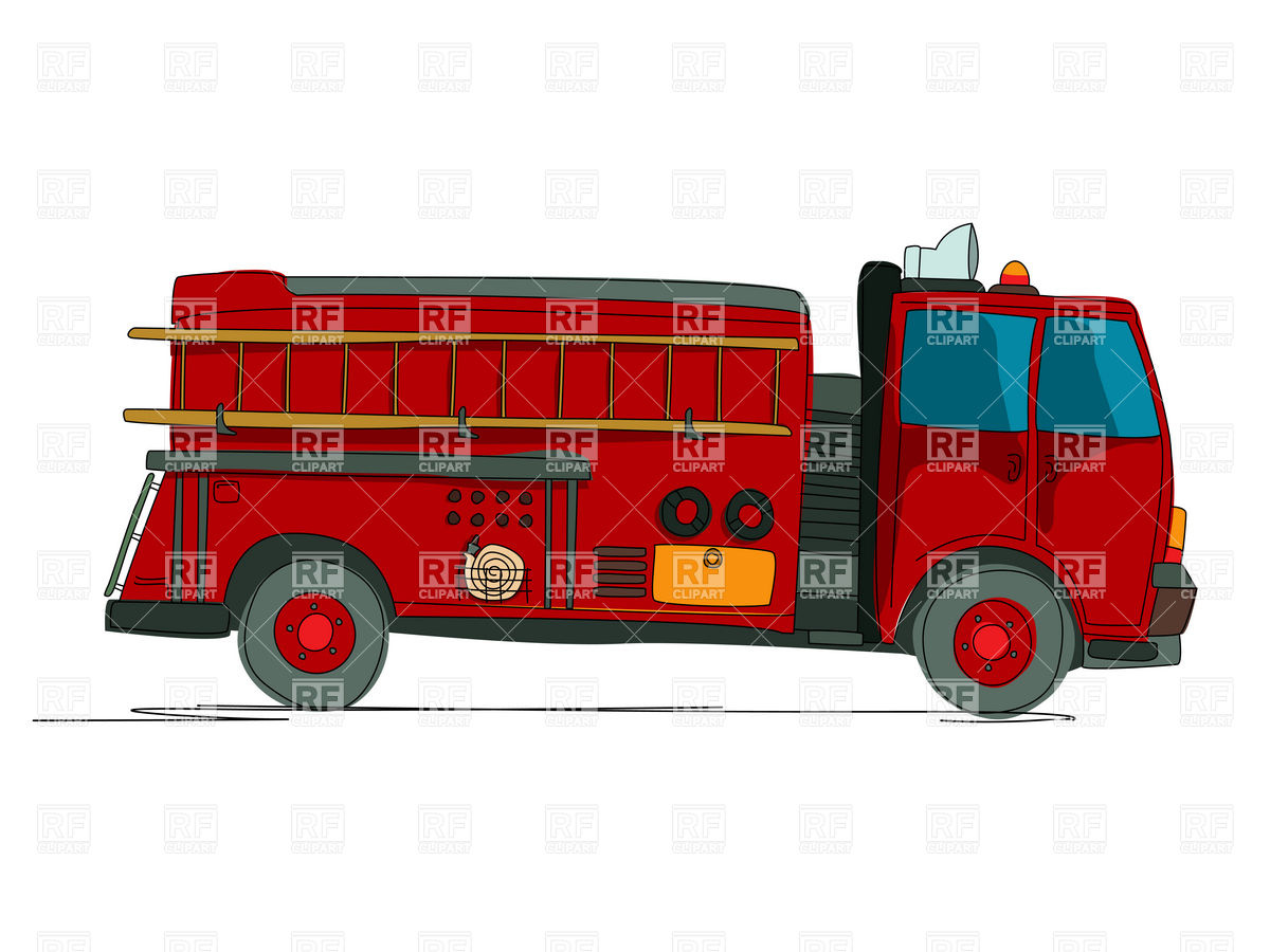 1200x900 Fire Truck Clipart Side View