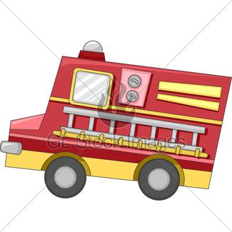 325x325 Cartoon Fire Truck Gl Stock Images