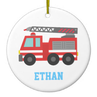 324x324 Fire Engine Christmas Tree Decorations Amp Ornaments Zazzle.co.uk