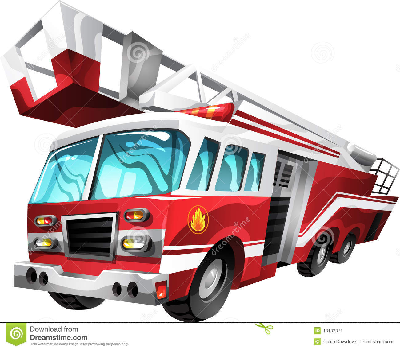 1300x1140 Fire Truck Cartoon Clipart Panda