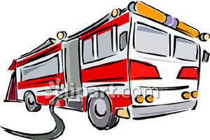 300x200 Fire Truck Clipart Clipart Panda