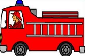292x192 Fire Truck Clipart
