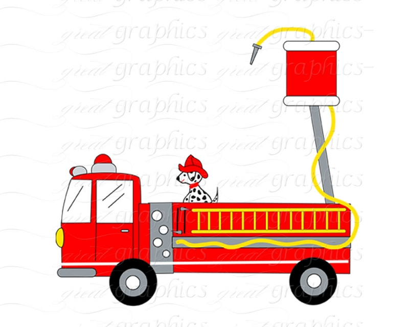 800x640 Firefighter Fire Truck Clipart