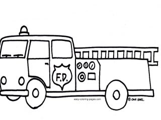320x240 Free Colouring Pages Coloring Page Fire Truck At Concept Picture