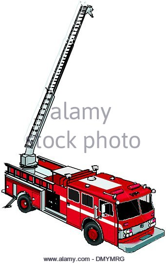 341x540 Red Fire Engine Fire Hose Extinguish Fire Emergency Services Stock