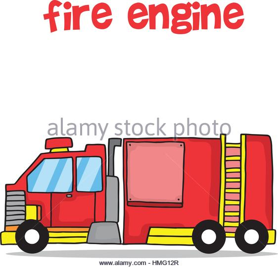 562x540 Vector Cartoon Fire Truck Stock Photos Amp Vector Cartoon Fire Truck
